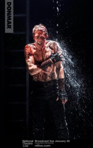 Coriolanus (Tom Hiddleston).  Photo by Johan Persson.