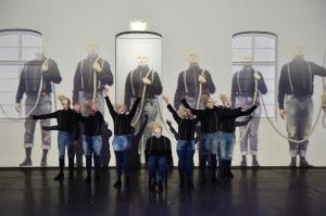 Das Ensemble des Wachsfigurenkabinetts  Foto: Hans Jörg Michel