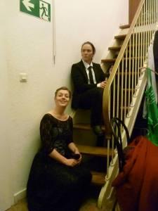 Eudora und Ernest Backstage