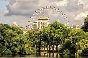 St. James Park and the London Eye Foto: Anne Reimers