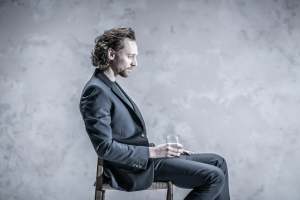 Tom Hiddleston (Robert) in 'Betrayal' directed by Jamie Lloyd. Photo credit Marc Brenner..